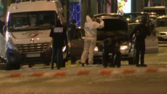 Le quartier des Champs-Elysées a été bouclée après la fusillade.