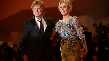 Robert Redford et Jane Fonda le 1er septembre 2017 à Venise