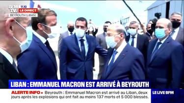 Emmanuel Macron est arrivé à Beyrouth