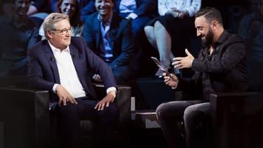 """Patrick Sabatier et Cyril Hanouna dans """"On se retrouve chez Sabatier"""", sur C8"""