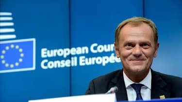 """Donald Tusk a estimé que Londres portait """"la responsabilité"""" de l'issue des négociations du Brexit."""