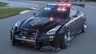 Pour le salon automobile de New-York, qui se déroule du 14 au 23 avril, Nissan a créé une version unique, façon voiture d'intervention, de sa sportive ultime, la GT-R.