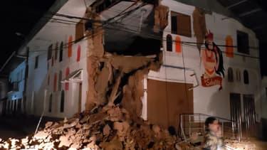 Maison effondrée après le séisme qui a frappé le nord-est du Pérou dimanche 26 mai 2019
