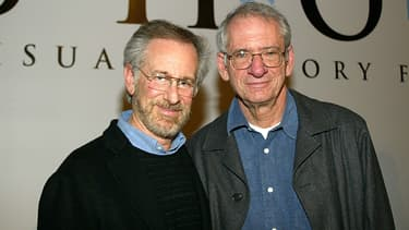 Steven Spielberg et Sid Sheinberg en 2004