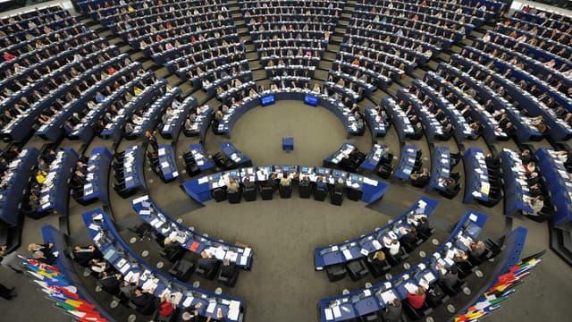Le Parlement européen, à Strasbourg (PHOTO D'ILLUSTRATION).