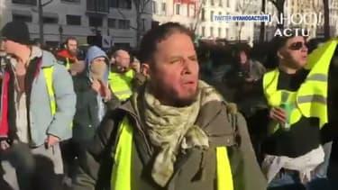 Le principal suspect de l'agression d'Alain Finkielkraut, lors des faits, samedi 16 février à Paris.