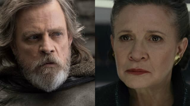 Mark Hamill et Carrie Fisher dans Star Wars, épisode VIII: Les Derniers Jedi