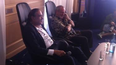 Paulo Branco et Terry Gilliam à Cannes en 2016