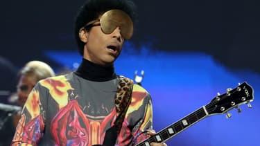 Le chanteur Prince en concert à Las Vegas