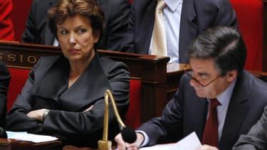 Roselyne Bachelot et François Fillon à l'Assemblée nationale, le 4 novembre 2009