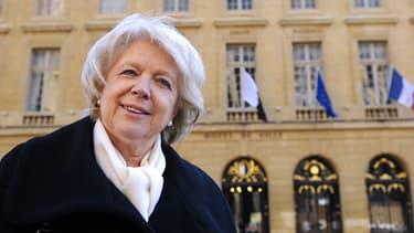 Marie-Jo Zimmermann le 24 novembre 2013 devant la mairie de Metz.