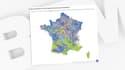 Infographie BFMTV sur les risques climatiques en France.