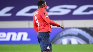 Jonathan David après son penalty manqué