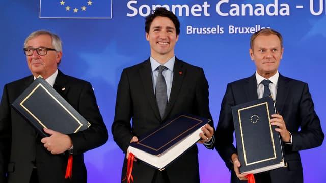 Le traité de libre-échange Union européenne Canada a été signé mais son contenu ne s'applique pas encore aux États. (image d'illustration)