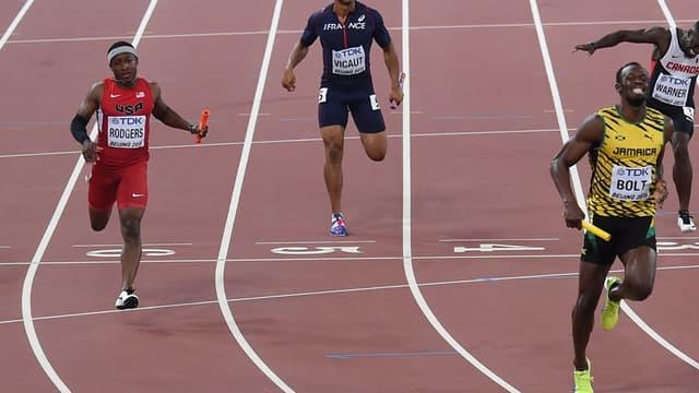 Jimmy Vicaut ne cache pas sa déception à l'arrivée du 4x100 mètres