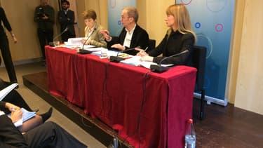 Dominique Guirimand (présidente de la commission de protection des droits), Christian Phéline (président) et Pauline Blassel (secrétaire générale par intérim)