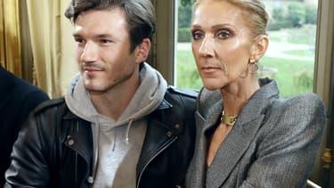 Céline Dion et le danseur Pepe Munoz le 23 janvier à Paris, pendant la Fahion Week.