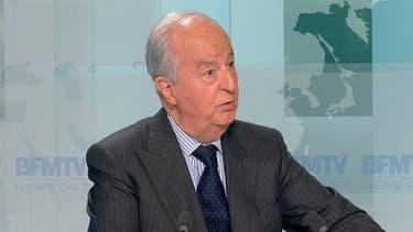 L'ancien Premier ministre Edouard Balladur, soupçonné d'avoir financé sa campagne présidentielle de manière occulte.