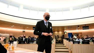 Le premier président de la Collectivité européenne d'Alsace (CEA), le LR Frédéric Bierry, élu le 2 janvier 2021 à Colmar