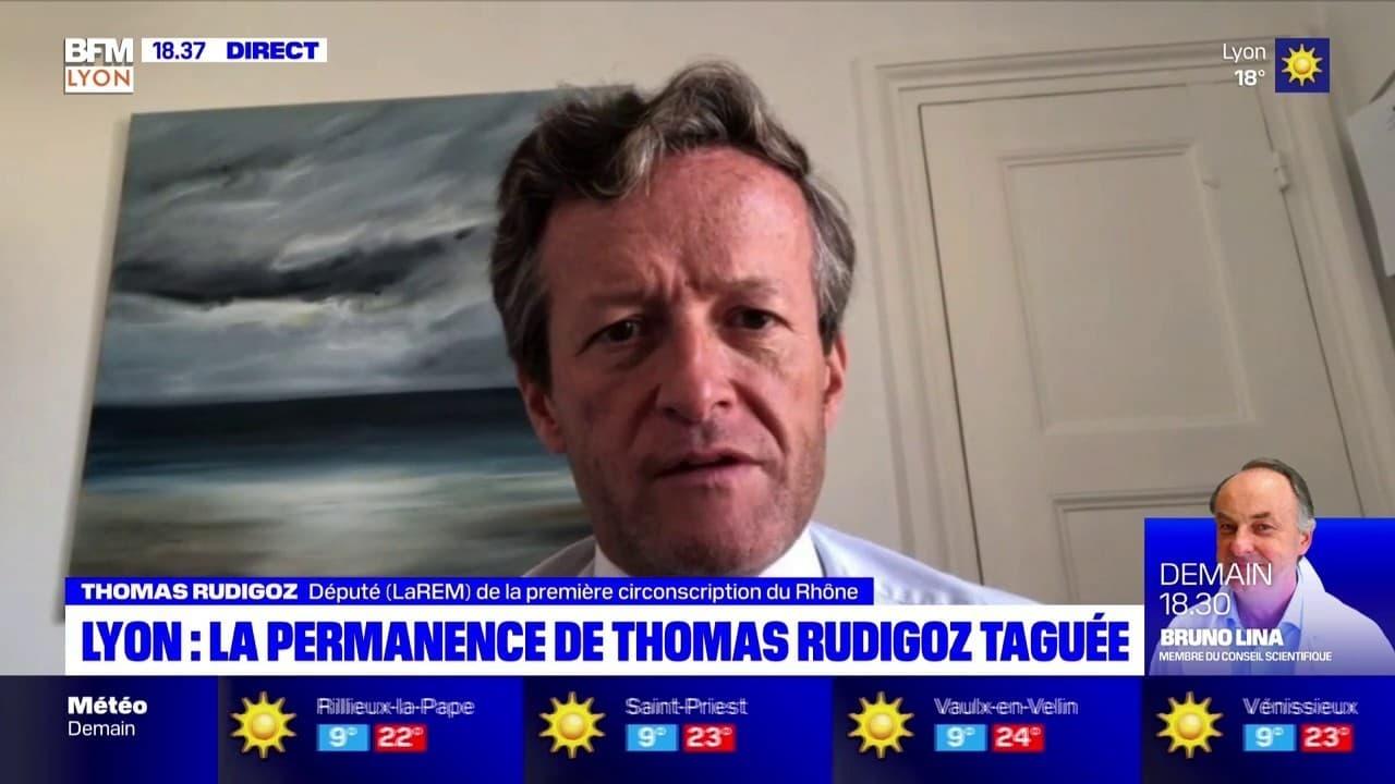 Lyon : la permanence de Thomas Rudigoz taguée