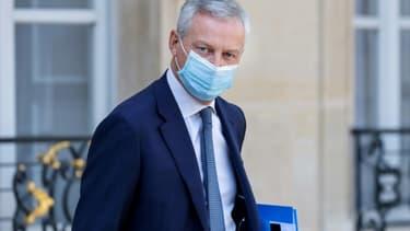 Le minstre de l'Economie Bruno Le Maire à l'Elysée, le 16 septembre 2020