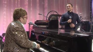 Elton John et Taron Argeton