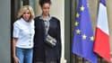 Brigitte Macron et Rihanna à l'Elysée le 26 juillet 2017