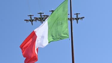 Le drapeau italien - Image d'illustration
