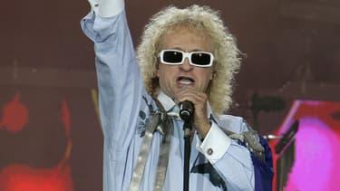 Michel Polnareff sur scène à Paris le 14 juillet 2007