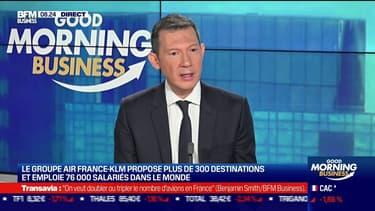 Le groupe Air France-KLM propose plus de 300 destinations et emploie 76.000 salariés dans le monde.