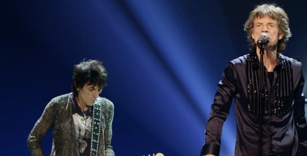 Ronnie Wood, Mick Jagger, Charlie Watts et Keith Richards, le 15 mai 2013 -