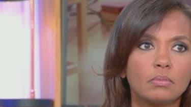 """Karine Le Marchand sur le plateau de """"C à Vous"""" sur France 5, mercredi 5 octobre."""