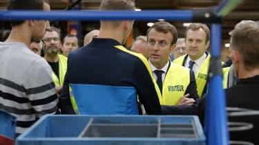 Emmanuel Macron à Whirlpool le 3 octobre 2017