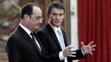 Manuel Valls et François Hollande le 5 février 2015.