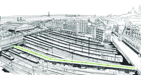 Une passerelle pourrait relier la Gare de Lyon au boulevard de la Chapelle, dans le 18e