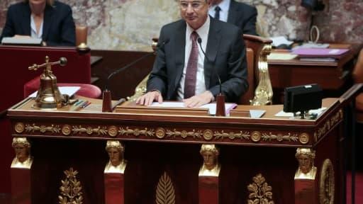 Claude Bartolone, président PS de l'Assemblée nationale, le 20 octobre 2015 à Paris