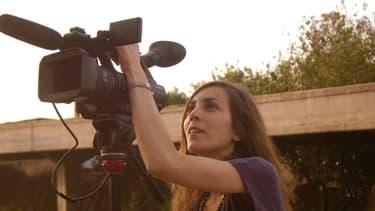 """Hind Meddeb, journaliste franco-tunisienne, veut se battre pour """"toutes les libertés"""" en Tunisie."""