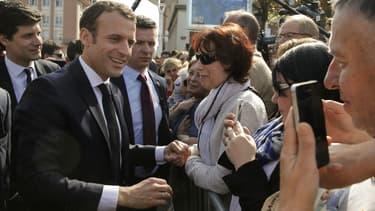 Visite d'Emmanuel Macron dans la commune de Saint-Dié-des-Vosges, le 18 avril 2018