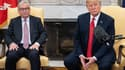De gauche à droite, le président de la Commission européenne Jean-Claude Juncker et le président des États-Unis Donald Trump.