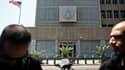 L'ambassade des Etats-Unis à Tel Aviv, en Israël. Les Etats-Unis ont conseillé vendredi la prudence aux ressortissants américains à l'étranger, évoquant un risque accru d'attentats d'Al Qaïda au mois d'août, notamment au Proche-Orient et en Afrique du Nor