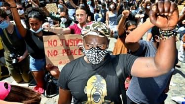 Manifestation contre le racisme et les violences policières à Rome, le 7 juin 2020