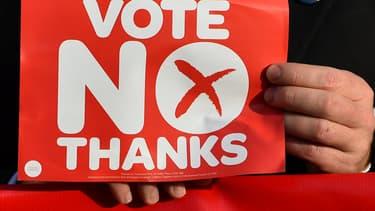 """Lors d'un rassemblement """"Pro-Union"""", c'est-à-dire contre l'indépendance de l'Ecosse, Edimbourg, le 16 septembre 2014."""
