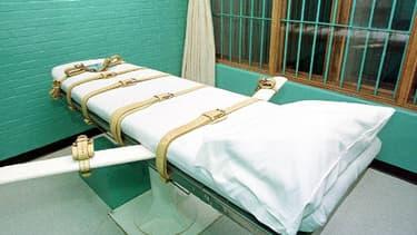 Un lit sur lequel on administre l'injection létale aux condamnés à mort, à Huntsville, au Texas. Les Etats-Unis comptent parmi les 22 pays qui ont appliqué la peine de mort en 2013.