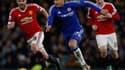 Pedro, l'attaquant de Chelsea, face à Manchester United