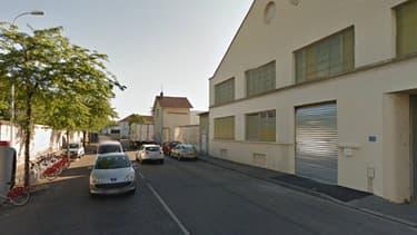 La rue Adibert et Lavirotte dans le 8e arrondissement de Lyon.
