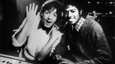 Paul McCartney et Michael Jackson en studio le 19 décembre 1983.