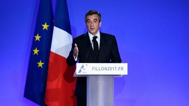 François Fillon lors de sa conférence de presse le 6 février 2017 (photo d'illustration)