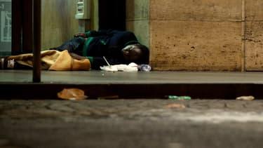 Un sans-abri à Rome en 2014 (illustration)