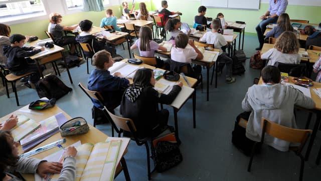Une salle de classe dans un collège privé, au nord de Rennes, le 23 septembre 2011. (Photo d'illustration) - AFP