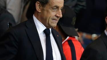 Nicolas Sarkozy au Parc des Princes, le 21 septembre.